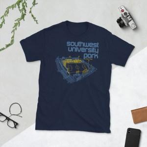 Navy El Paso Locomotive and Southwest University Park T-Shirt