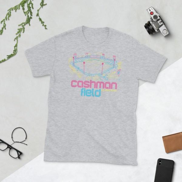 Gray Cashman Field and Las Vegas Lights FC T-Shirt
