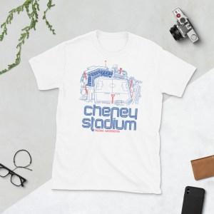 White OL Reign and Cheney Stadium T-Shirt