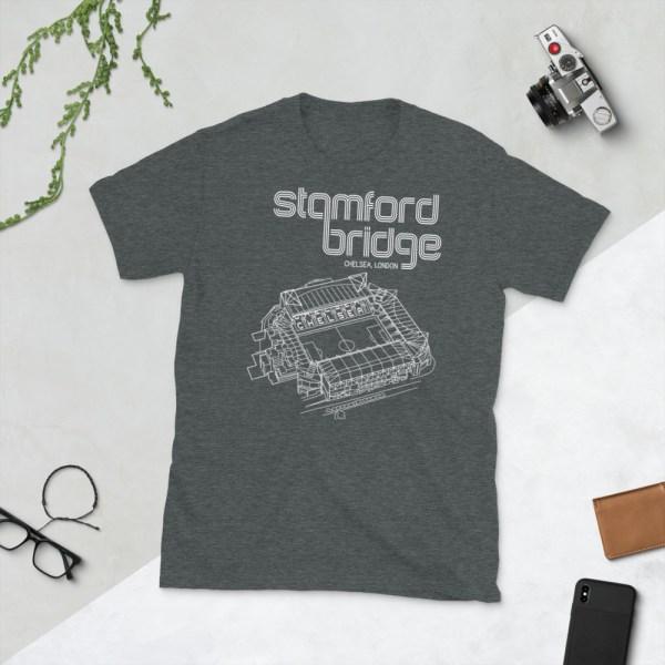 Dark grey Stamford Bridge and Chelsea T-Shirt