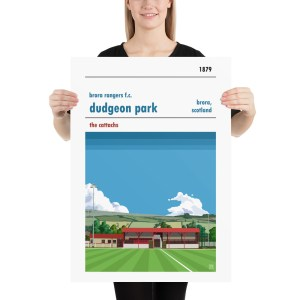 Dudgeon Park and Brora Rangers Football Poster