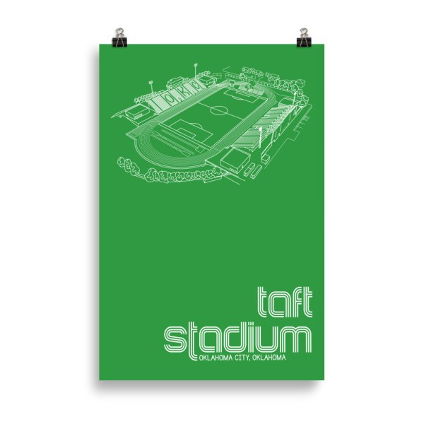 Huge Taft Stadium and OKC Energy FC Soccer Print