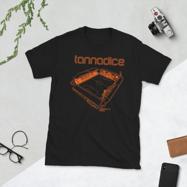 Black Tannadice and Dundee United T-Shirt