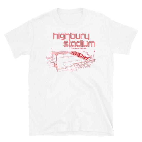 White Fleetwood Town and Highbury Stadium T-Shirt