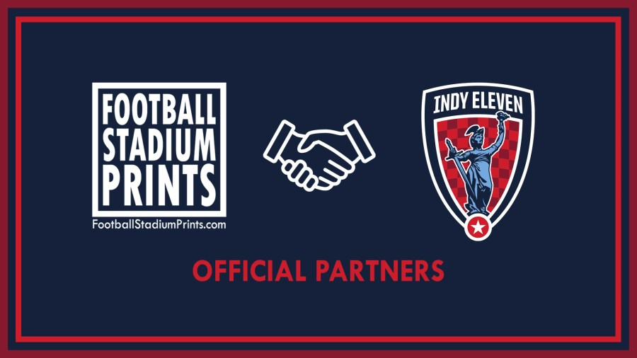 Indy Eleven and Football Stadium Prints official partnership