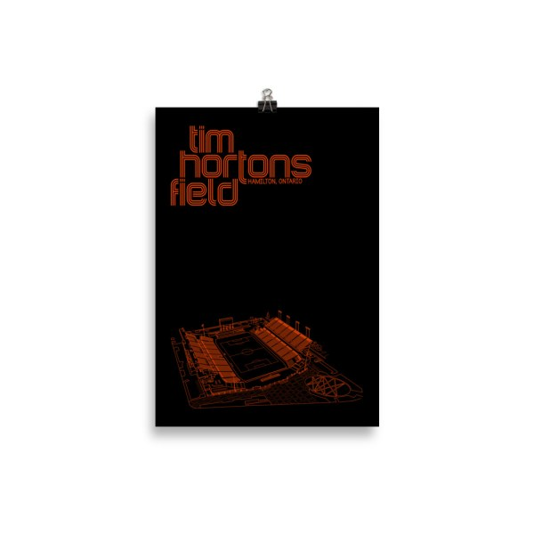 Small Black Tim Hortons Field and Forge FC Football Poster