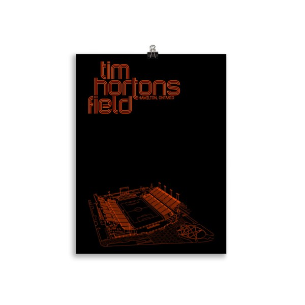 Medium Black Tim Hortons Field and Forge FC Football Poster
