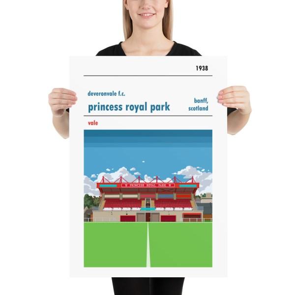 Deveronvale and Princess Royal Park Football Print