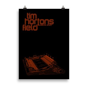 Black Tim Hortons Field and Forge FC Football Poster