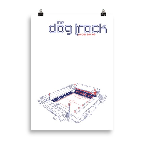 Large Ted Lasso AFC Richmond and Dog Track Football Print