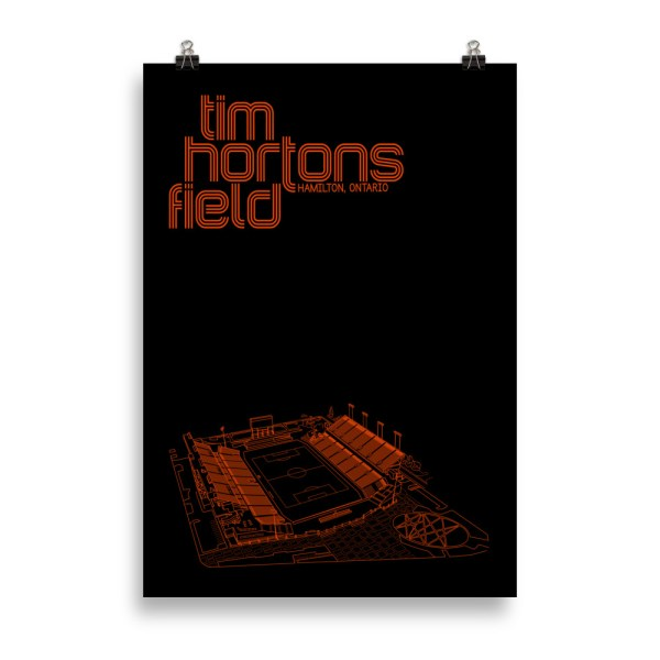 Massive Black Tim Hortons Field and Forge FC Football Poster