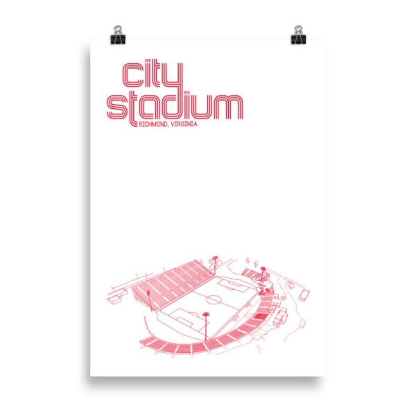 Richmond Kickers and City Stadium Soccer Print
