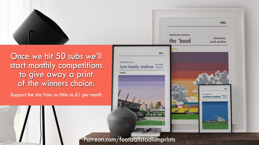 Win Prints from Football Stadium Prints and Patreon