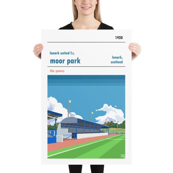 Huge Lanark United and Moor Park Football Print