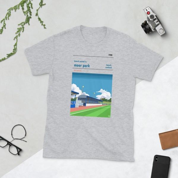 Grey Lanark United and Moor Park T-Shirt