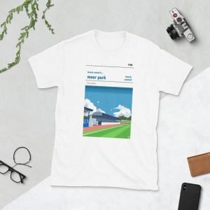 White Lanark United and Moor Park T-Shirt