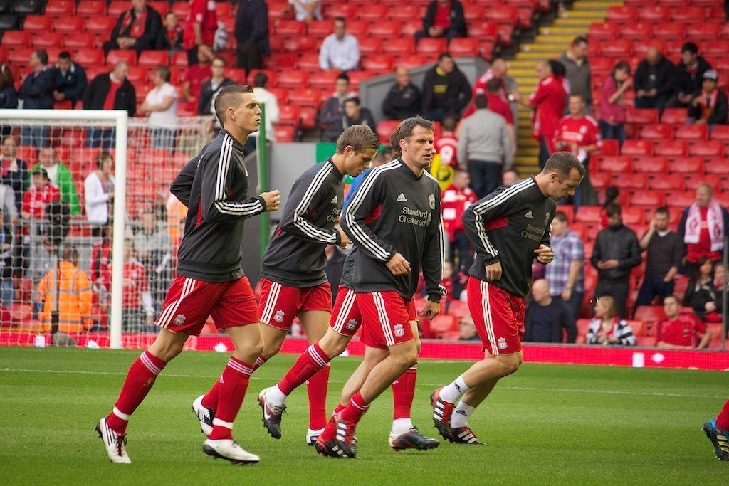Liverpool warming up