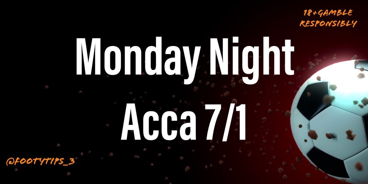 A great accumulator tip with odds at 7/1 for Monday night football 22nd June.