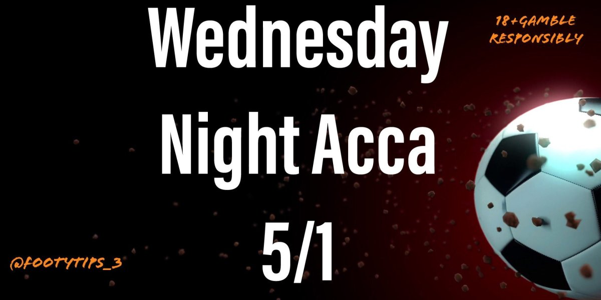 My football tip Acca with price coming in at 5/1 for Wednesday night 10th June.