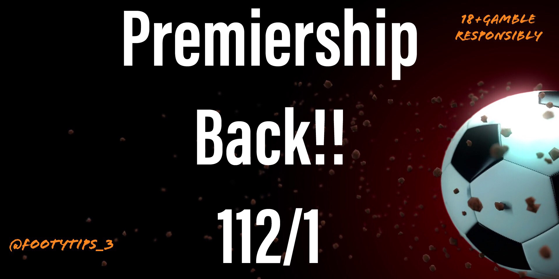 Here's A 112/1 Football Tip For Premiership Starting