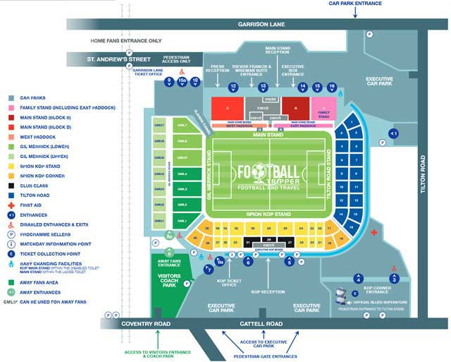 St Andrew S Stadium Guide Birmingham F C Football Tripper