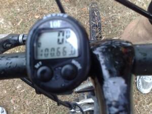 Cyclometer at finish