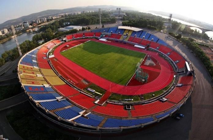 Футбольный стадион в Красноярске