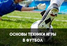 Основы техники игры в футбол
