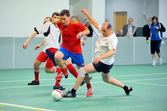 Матч в мини-футболе в России