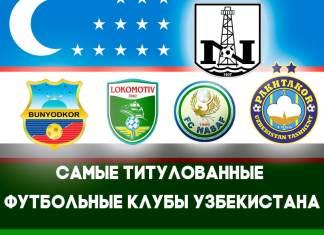 Топ футбольных клубов Узбекистана