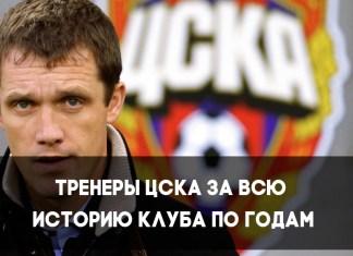 Лучшие тренеры ФК ЦСКА по годам