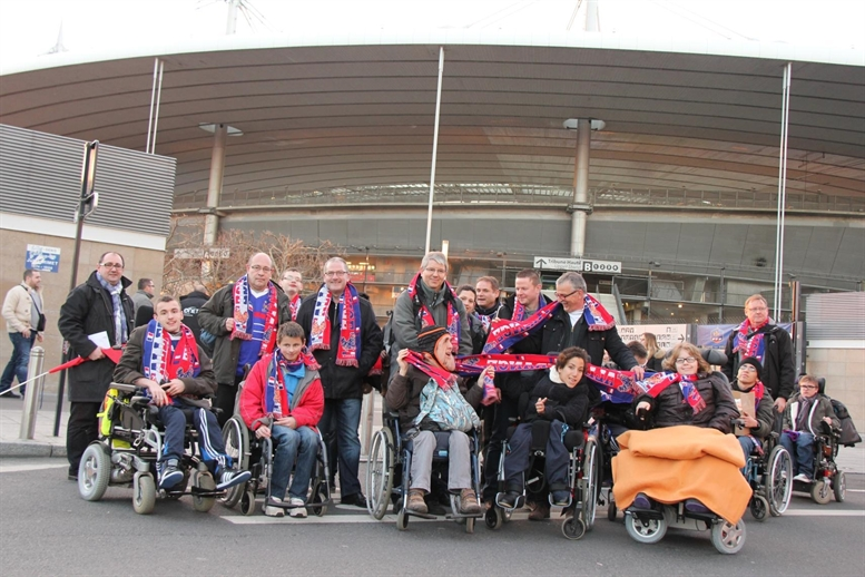 Enfants invités au Stade de France