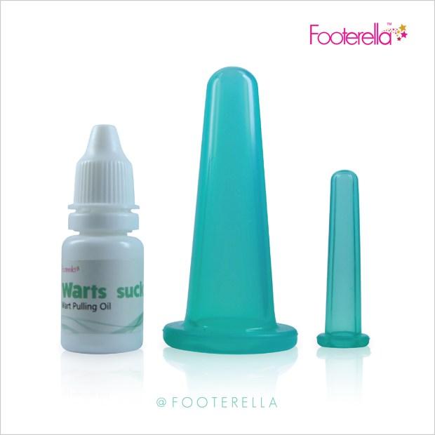 Footerella Wartssuck gentle warts removal system