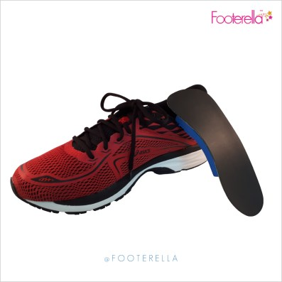 Footerella The wave orthotic on sports shoe