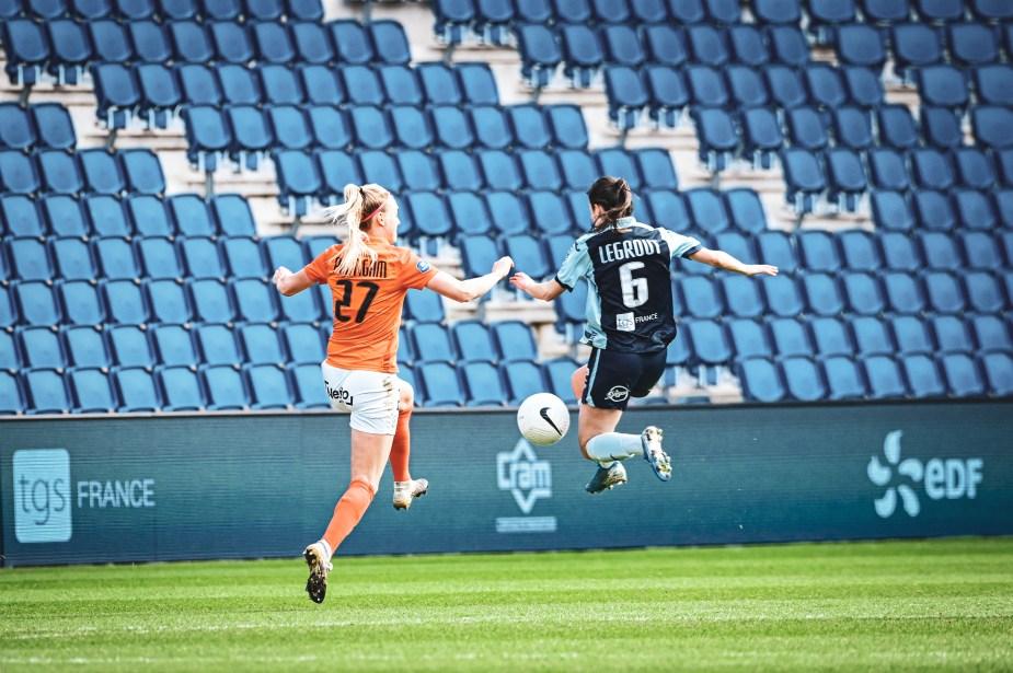 Rencontre animée entre les deux équipes : avec ce score de 4-1 en faveur des visiteuses, il s'agit du match le plus prolifique de la 16e journée de D1 Arkema. ©Laura Pestel