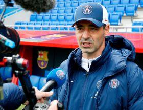 Olivier Echouafni, entraîneur du PSG, avant le retour contre Barcelone
