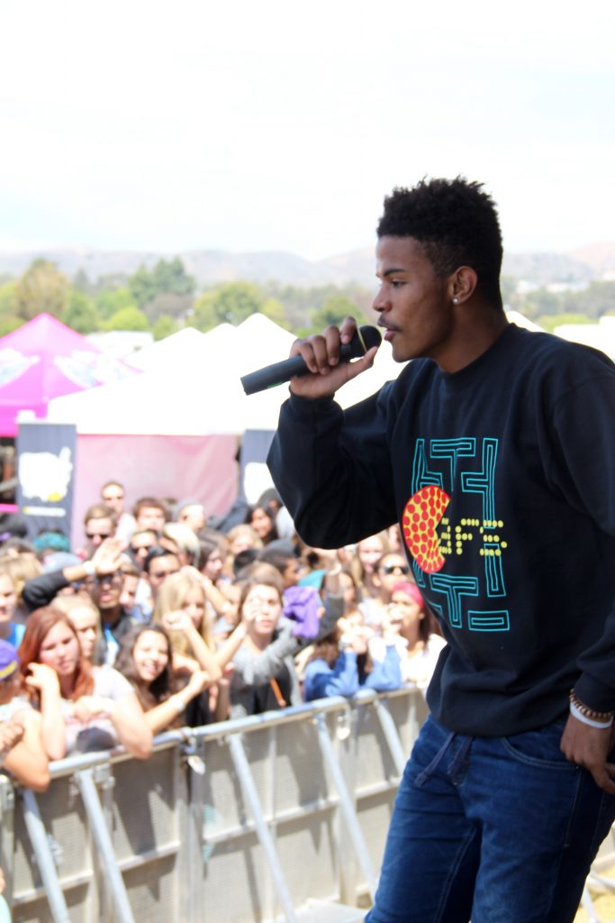 Trevor Jackson was a big hit among the students at the rally. Credit: Johnathan Carriger/The Foothill Dragon Press