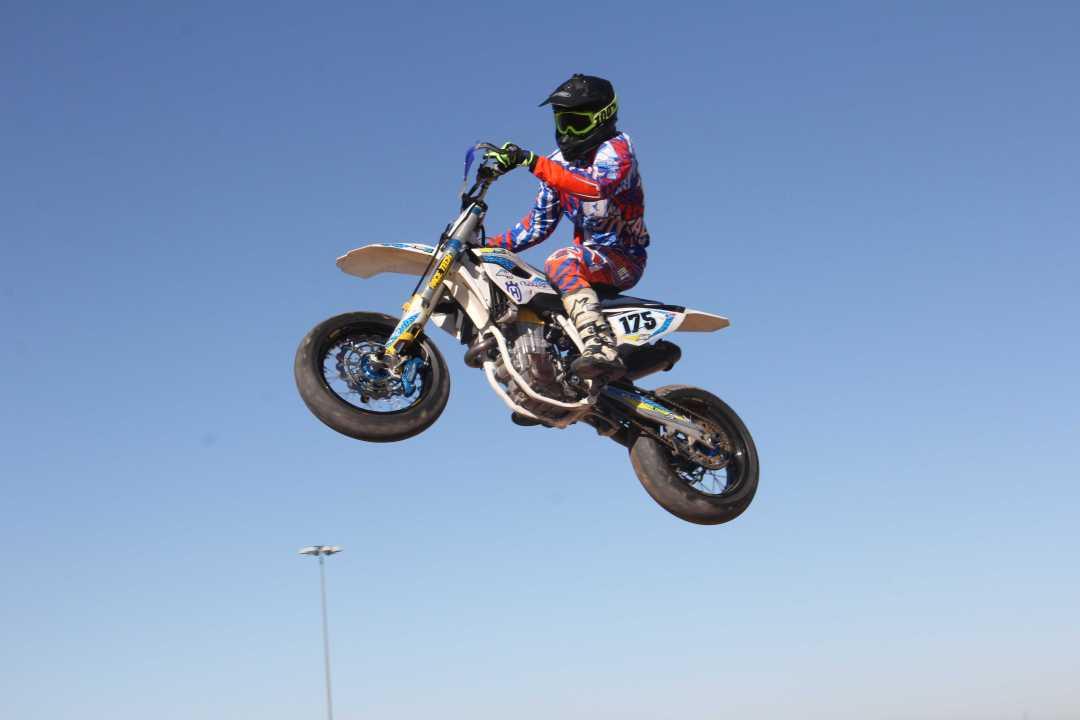 Senior Austin Pecoraro has competed in Supermoto. Photo Courtesy of Austin Pecoraro.