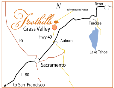 Foothills Events map