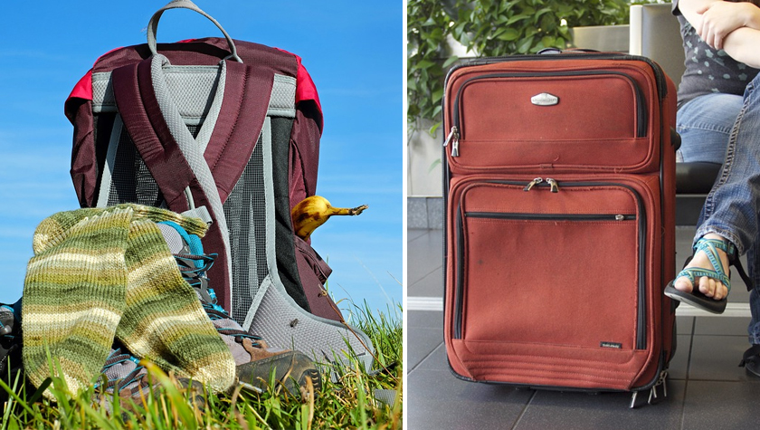 A die-hard budget backpacker rolling a  pretty  suitcase on the wild-west  Kuala Lumpurian streets 1e1e38e11ed04