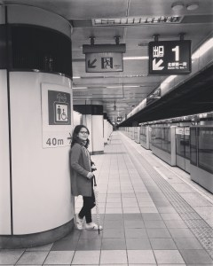 The Taipei Metro Train - empty at 1am of New Years' Day