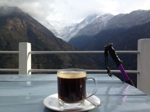 Coffee at 'Excellent view guesthouse'