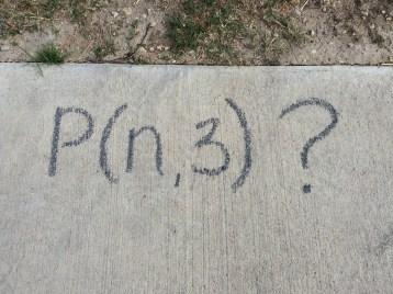 P(n,3)?