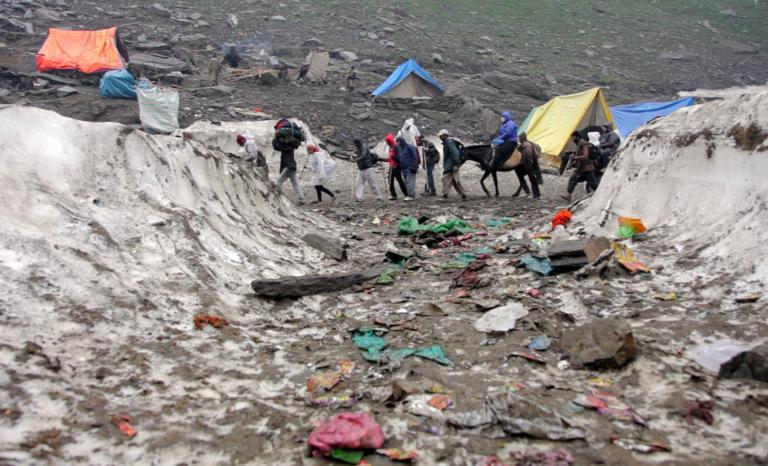 plastic pollution on himalaya