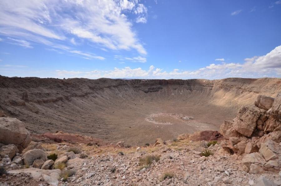 The Crater from the viewing deck ,Meteor Crater Arizona