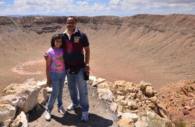 at the brink Meteor Crater,Arizona