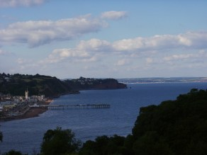 Overview of Teignmouth and the sea