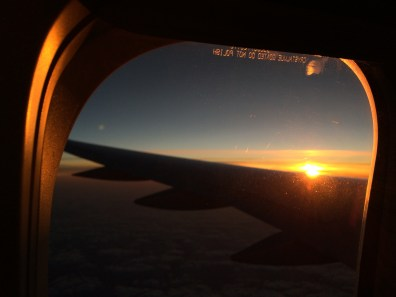 Sunrise on the plane