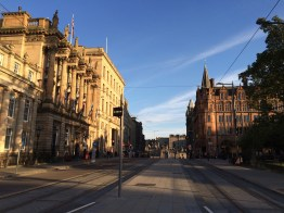 View from St. Andrew Square tram station