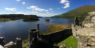 Overlooking Loch Awe from Kilchurn Castle